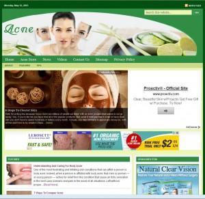 Acne Turnkey Niche Website