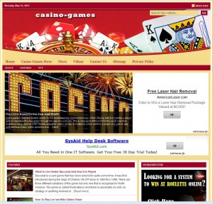 Casino Games Turnkey Niche Website