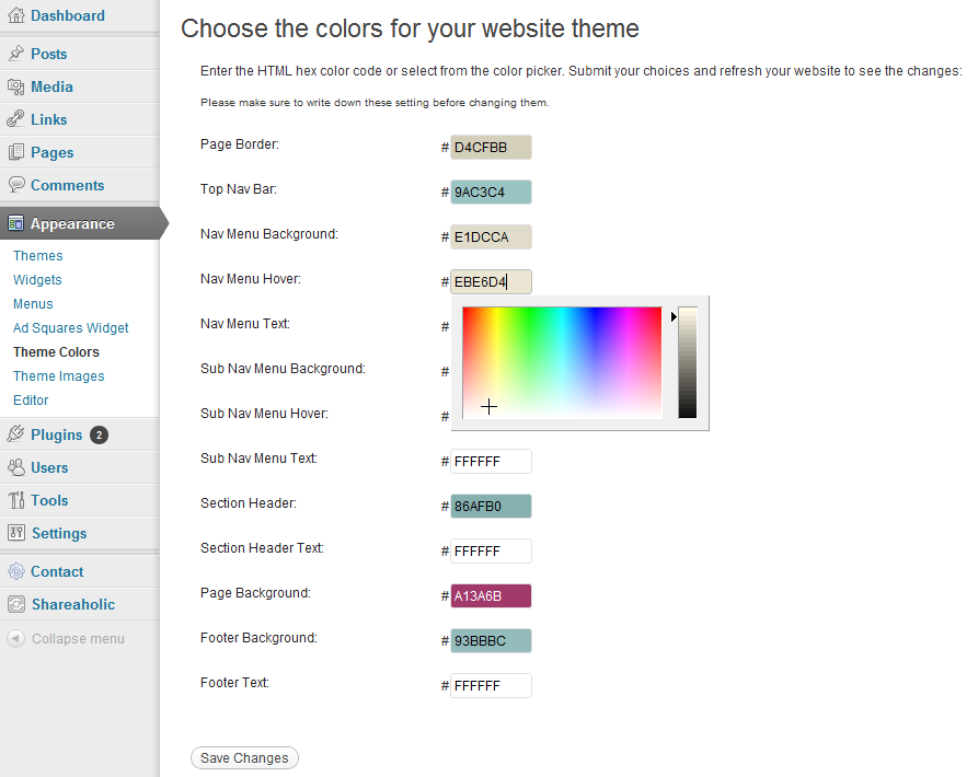 html code to change background color of page - how to easily change your header image and website colors
