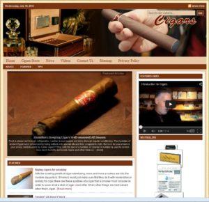 Cigar Accessories Niche Website