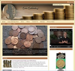 Coin Collecting Niche Website