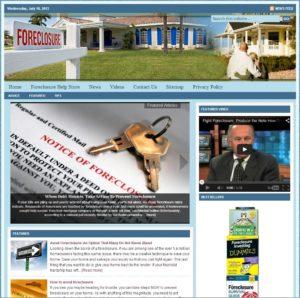 Foreclosure Help Niche Website
