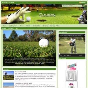 Golfing Niche Website