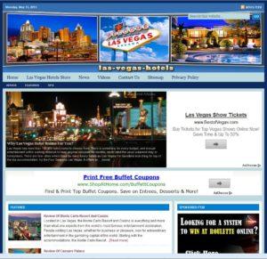 Las Vegas Hotels Niche Website