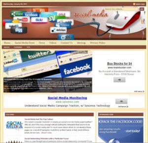 Social Media Niche Website