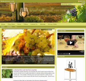 Wine Lovers Niche Website