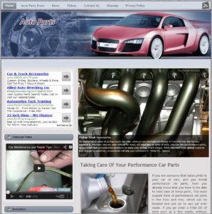 Auto Parts Niche Website