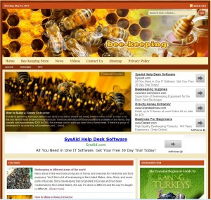 Beekeeping Turnkey Niche Website