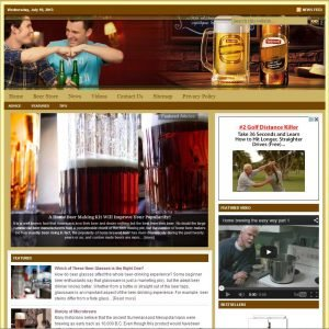 Beer Lovers Niche Website