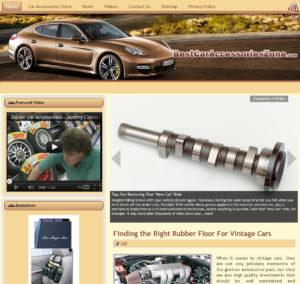 Car Accessories Niche Website