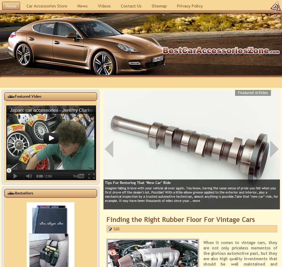 Car Accessories Niche Website
