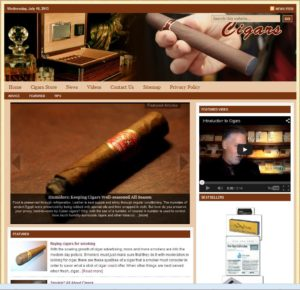 Cigar Accessories Niche Website