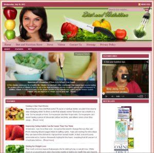 Diet and Nutrition Niche Website