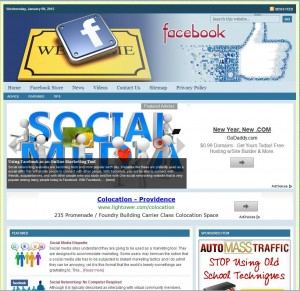 Facebook Tips Niche Website
