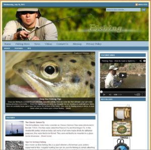 Fishing Niche Website