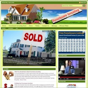 Foreclosure Investing Niche Website
