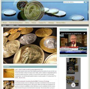 Gold Investing Niche Website