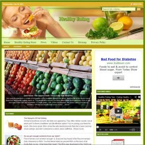 Healthy Eating Niche Website