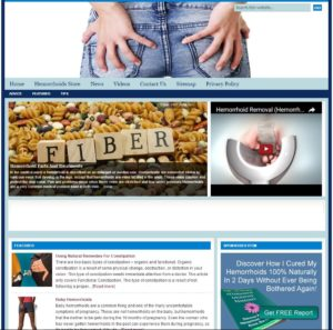 Hemorrhoids Niche Website