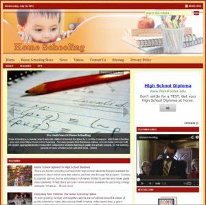 Home Schooling Niche Website