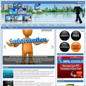 Internet Marketing Niche Website
