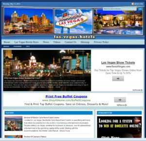 Las Vegas Hotels Niche Website