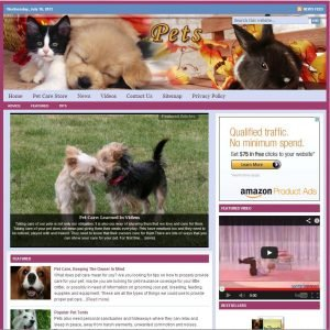 Pet Care Niche Website
