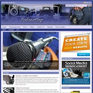 Podcasting Niche Website