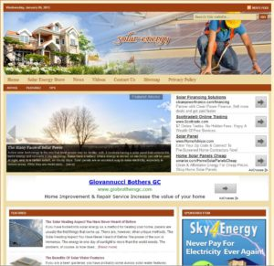 Solar Energy Niche Website