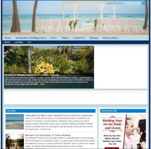 Destination Weddings Niche Website